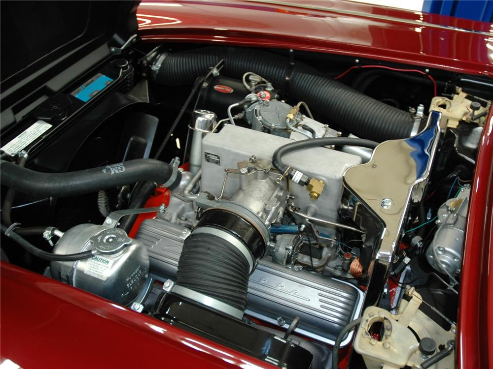 1962 CHEVROLET CORVETTE FI CONVERTIBLE - Engine - 75246