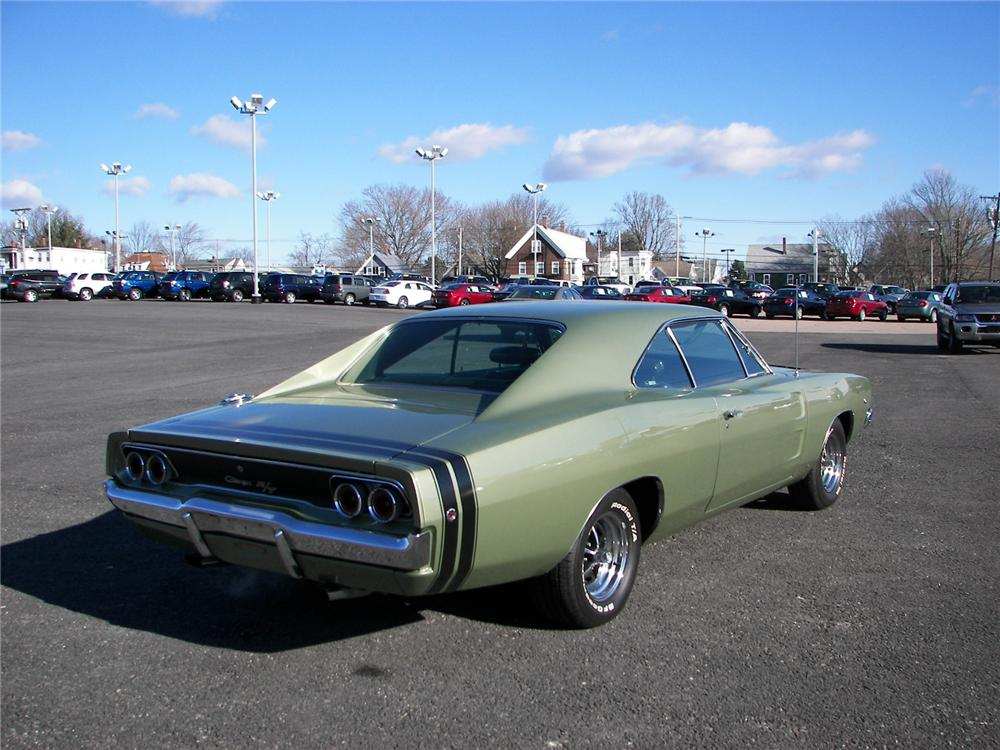 1968 DODGE CHARGER R/T COUPE - Rear 3/4 - 75268