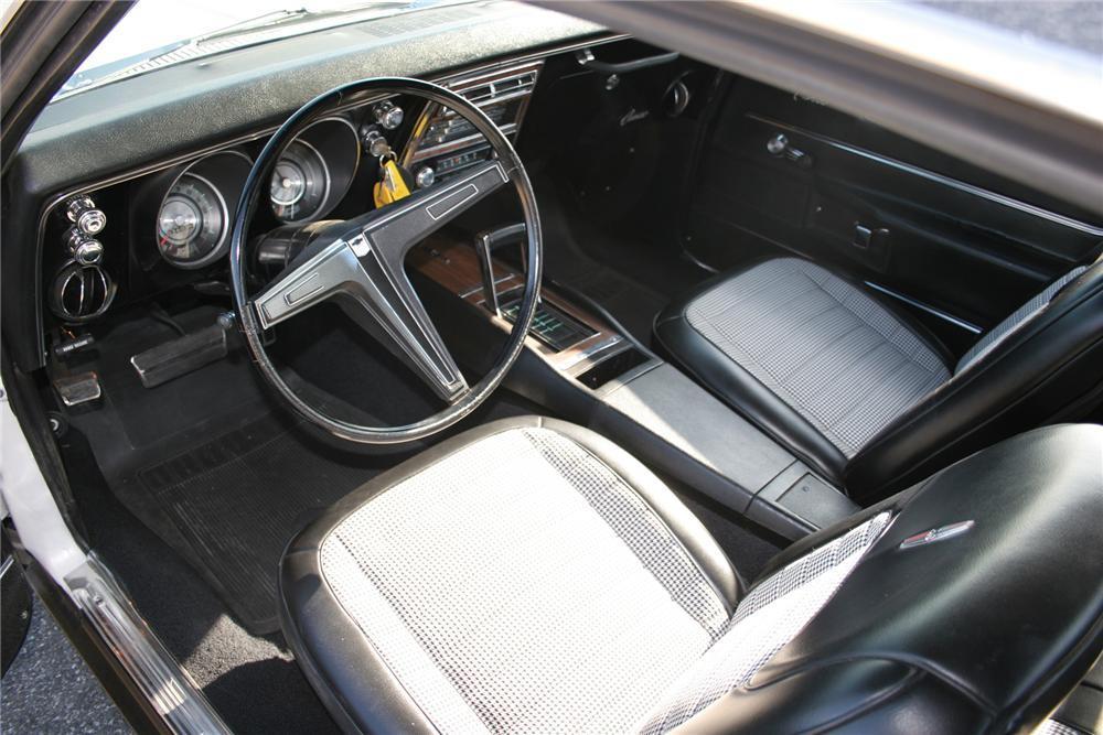 1968 CHEVROLET CAMARO RS COUPE - Interior - 75277