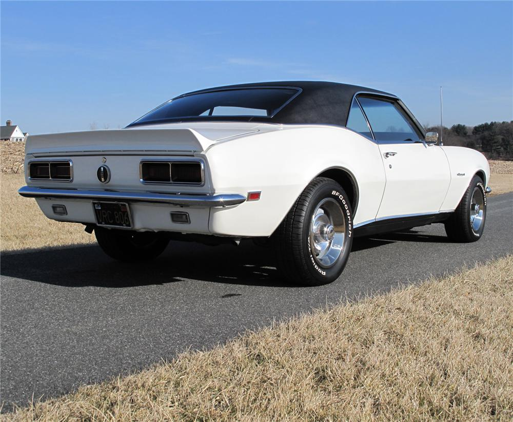 1968 CHEVROLET CAMARO RS COUPE - Rear 3/4 - 75277
