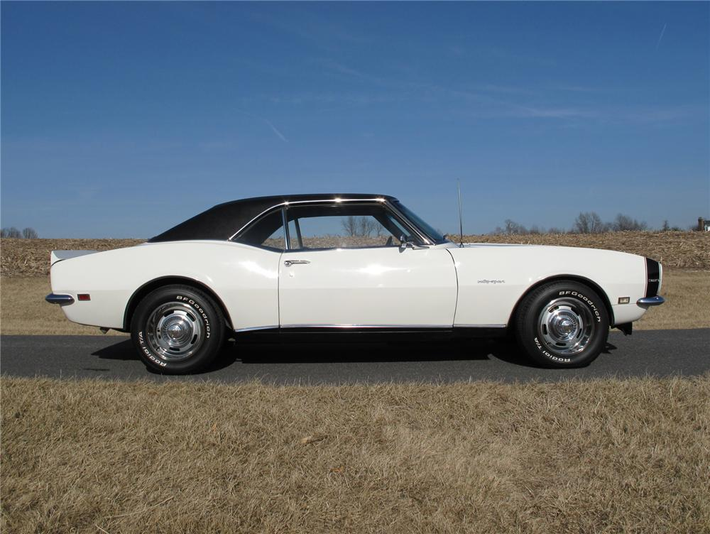 1968 CHEVROLET CAMARO RS COUPE - Side Profile - 75277