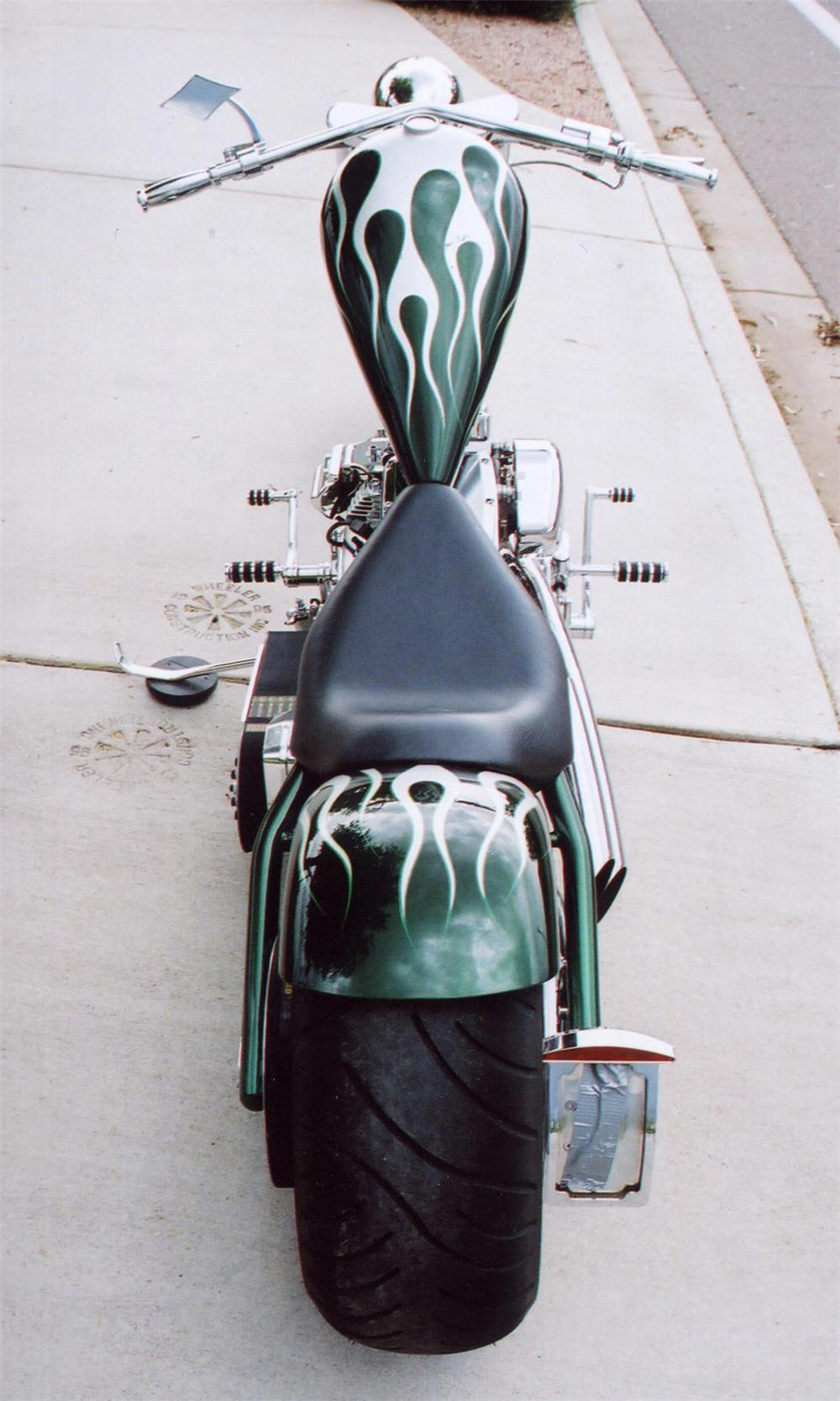 "2005 AMP CUSTOM ""CA$H MONEY CHOPPER"" - Rear 3/4 - 75294"
