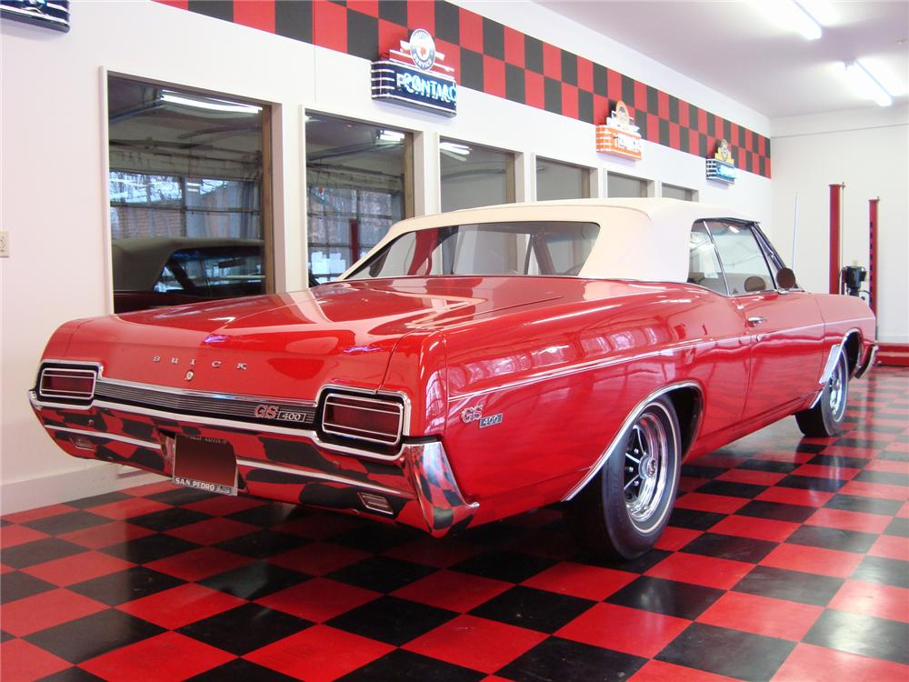 1967 BUICK SKYLARK GS CONVERTIBLE - Rear 3/4 - 75334