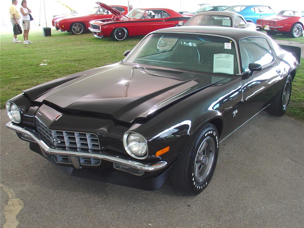 1972 chevrolet camaro ss coupe front 3 4 75343