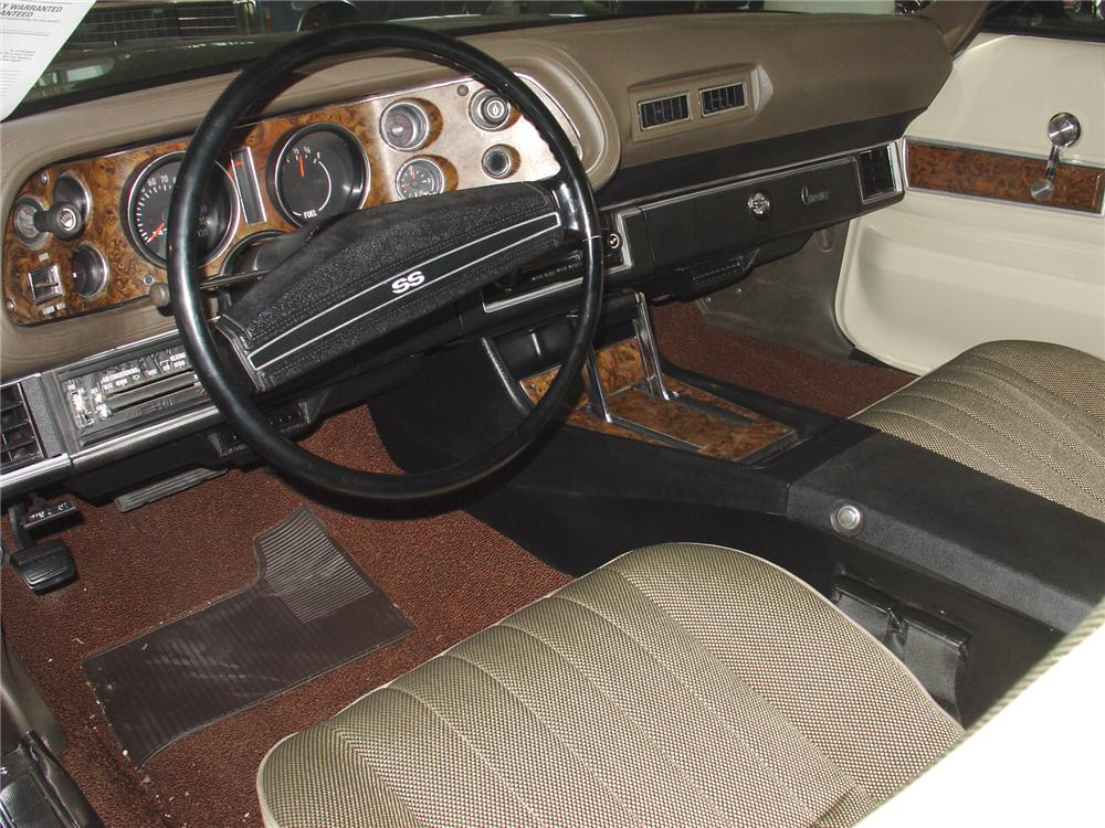 1972 CHEVROLET CAMARO SS COUPE - Interior - 75343