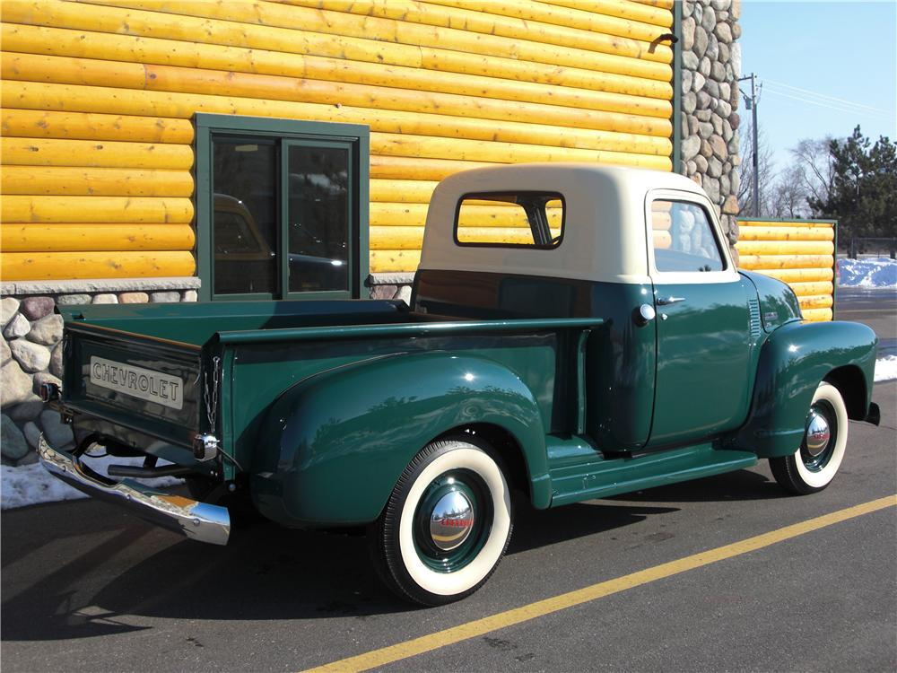 1949 CHEVROLET 3100 PICKUP - Rear 3/4 - 75354
