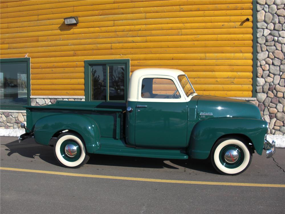 1949 CHEVROLET 3100 PICKUP - Side Profile - 75354