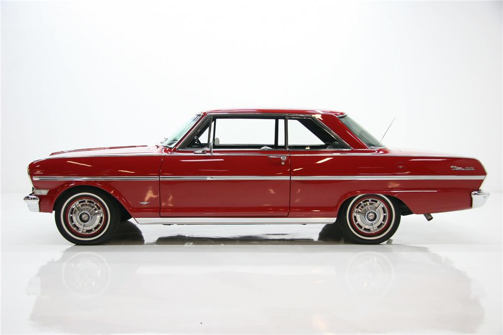 1963 CHEVROLET NOVA SS COUPE - Side Profile - 75379