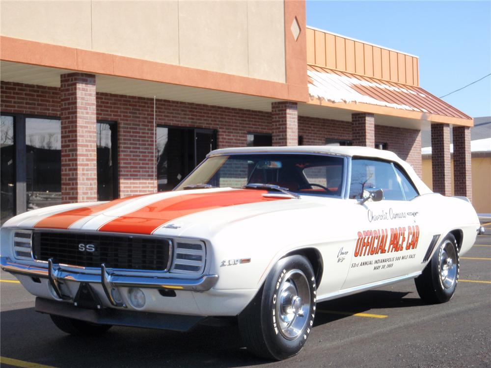 1969 CHEVROLET CAMARO Z-11 CONVERTIBLE PACE CAR EDITION - Front 3/4 - 75384