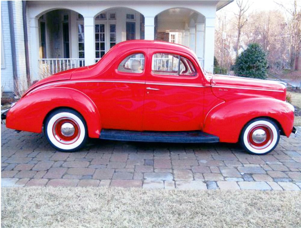 1940 FORD DELUXE CUSTOM 2 DOOR COUPE - Side Profile - 75397