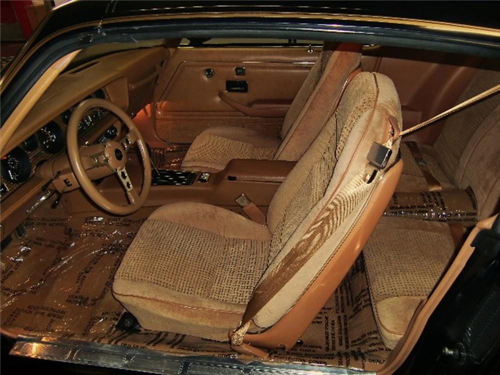 1979 PONTIAC FIREBIRD TRANS AM T-TOP BANDIT EDITION - Interior - 75409