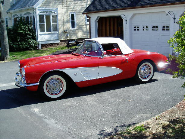 1960 CHEVROLET CORVETTE CONVERTIBLE - Side Profile - 75411