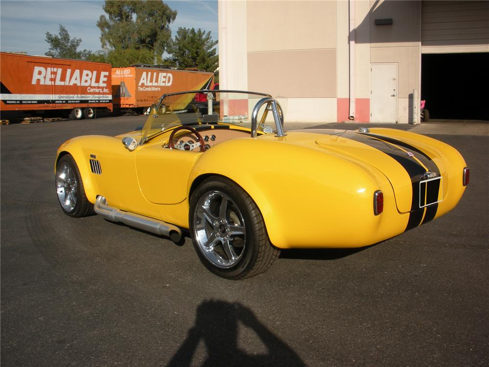 1966 SHELBY COBRA RE-CREATION ROADSTER - Rear 3/4 - 75431