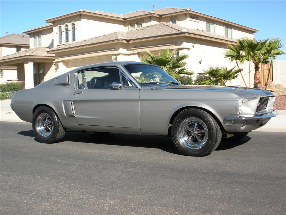 1968 FORD MUSTANG GT CUSTOM FASTBACK - Side Profile - 75433