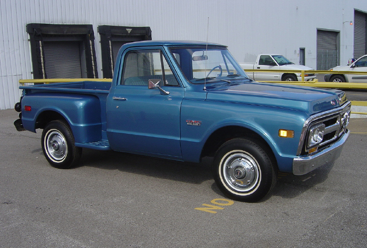 1971 GMC 1/2 TON PICKUP - Side Profile - 75440