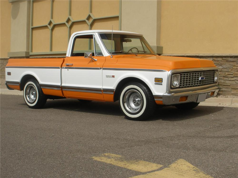 1972 CHEVROLET SHORT BOX PICKUP - Front 3/4 - 75444