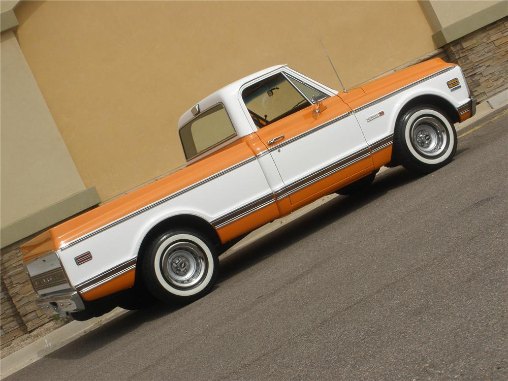 1972 CHEVROLET SHORT BOX PICKUP - Side Profile - 75444