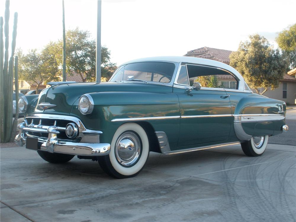 1953 chevrolet bel air 2 door hardtop 75445