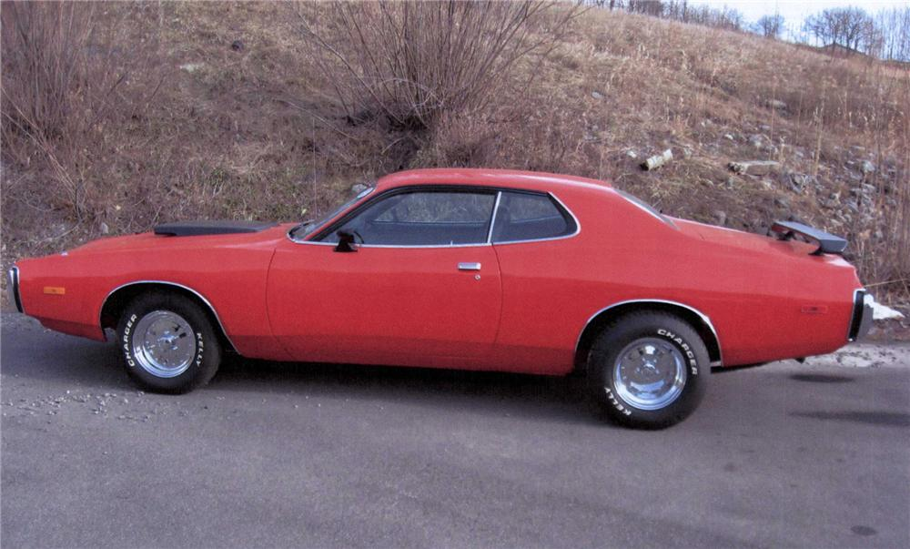 1973 DODGE CHARGER 2 DOOR SEDAN - Side Profile - 75456