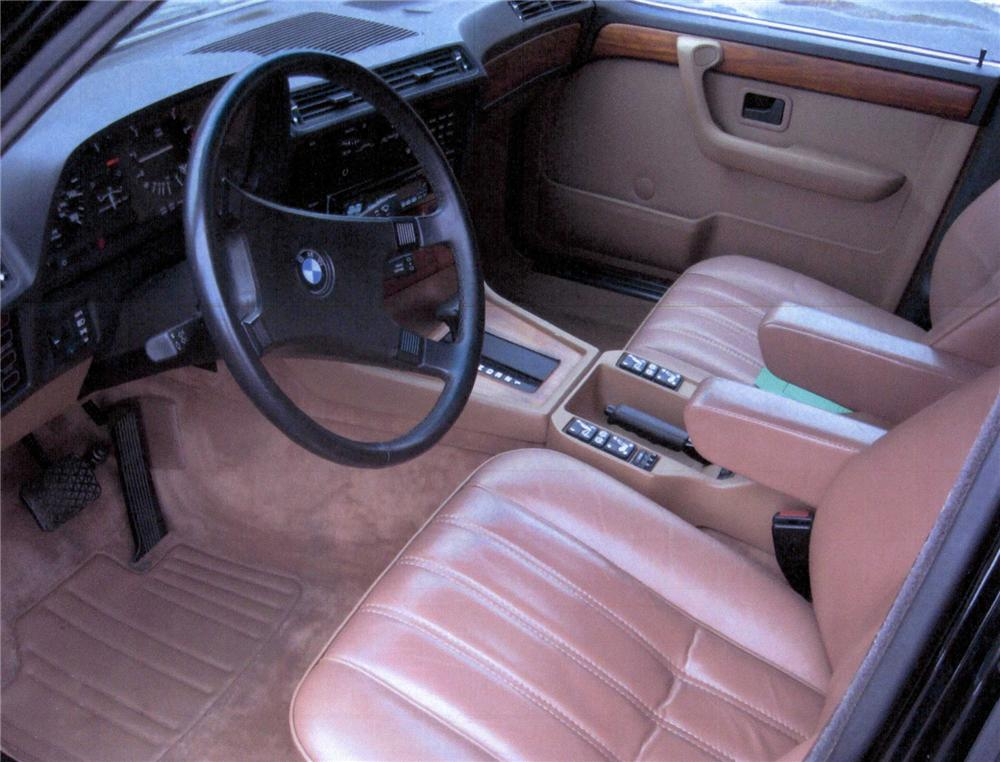 1985 BMW 735 I 4 DOOR SEDAN - Interior - 75458