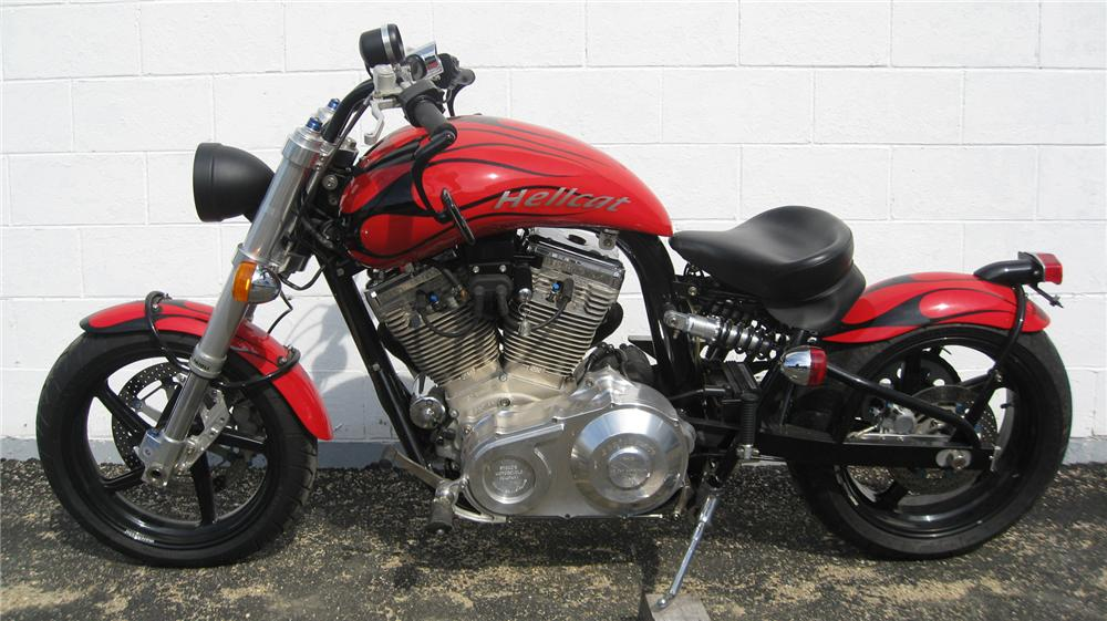 2001 CONFEDERATE HELLCAT MOTORCYCLE - Side Profile - 75465