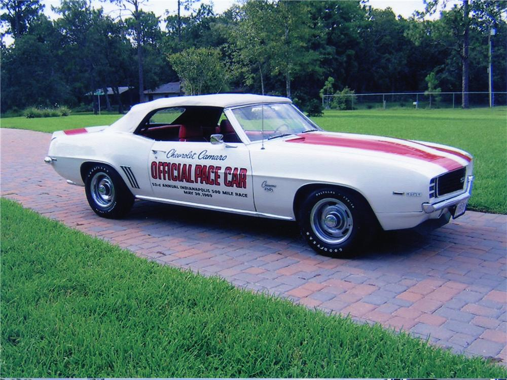 1969 CHEVROLET CAMARO Z-11 CONVERTIBLE PACE CAR EDITION - Front 3/4 - 75467