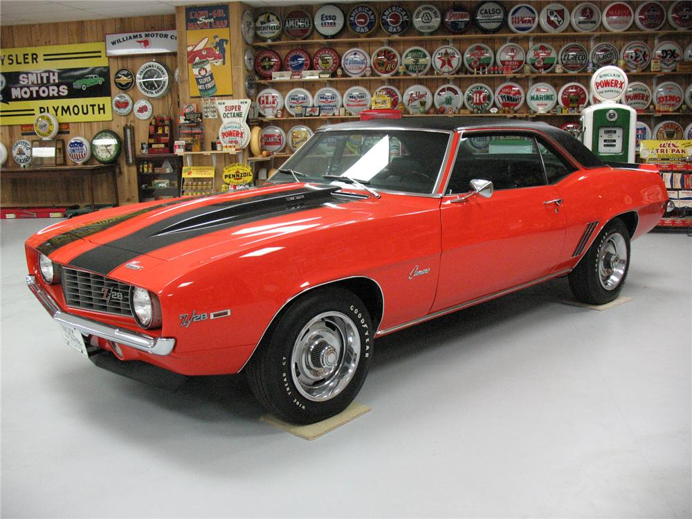 1969 CHEVROLET CAMARO Z/28 COUPE - Side Profile - 75662