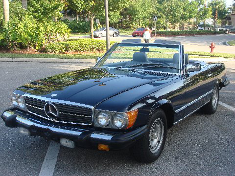 1985 MERCEDES-BENZ 380SL CONVERTIBLE - Front 3/4 - 75716