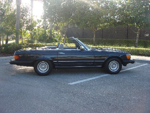 1985 MERCEDES-BENZ 380SL CONVERTIBLE - Side Profile - 75716