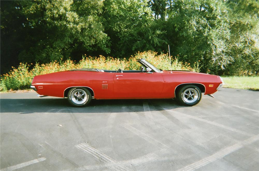 1970 FORD TORINO GT CONVERTIBLE - Side Profile - 75717