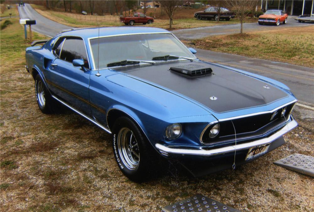 1969 FORD MUSTANG MACH 1 FASTBACK - Front 3/4 - 75720