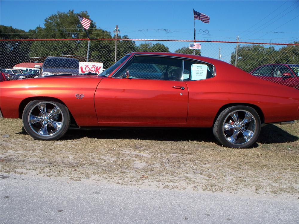 1971 CHEVROLET CHEVELLE SS 454 CUSTOM 2 DOOR HARDTOP - Side Profile - 75832