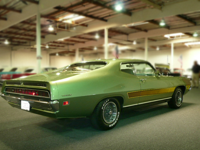 1971 FORD TORINO GT 2 DOOR SPORTSROOF - Rear 3/4 - 79040