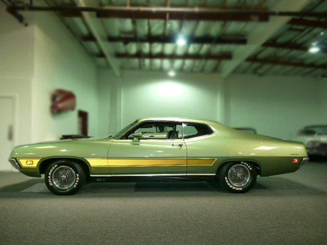 1971 FORD TORINO GT 2 DOOR SPORTSROOF - Side Profile - 79040