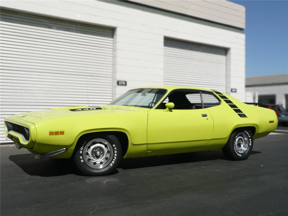 1971 PLYMOUTH ROAD RUNNER COUPE - Side Profile - 79042