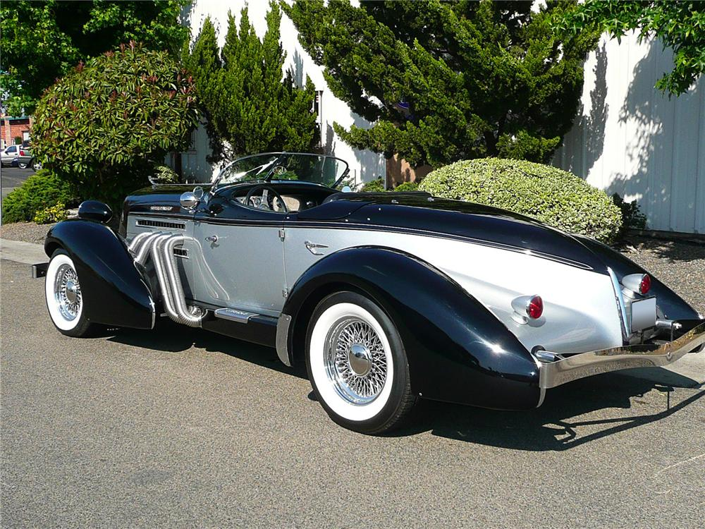 1936 AUBURN BOATTAIL SPEEDSTER REPLICA - Rear 3/4 - 79046