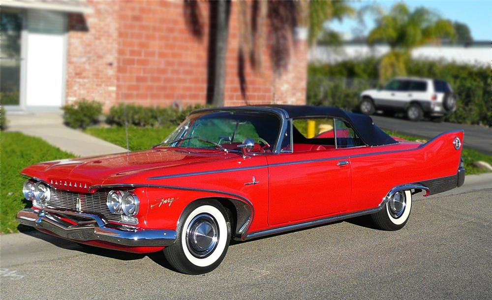 1960 PLYMOUTH FURY CONVERTIBLE - Front 3/4 - 79049