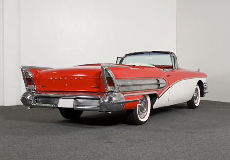 1958 BUICK SPECIAL CONVERTIBLE - Rear 3/4 - 79051