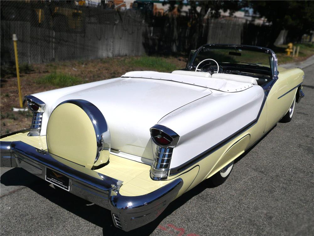 1957 OLDSMOBILE 98 STARFIRE CONVERTIBLE - Rear 3/4 - 79052
