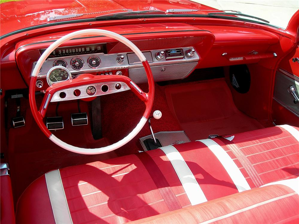 1961 CHEVROLET IMPALA SS CONVERTIBLE - Interior - 79070
