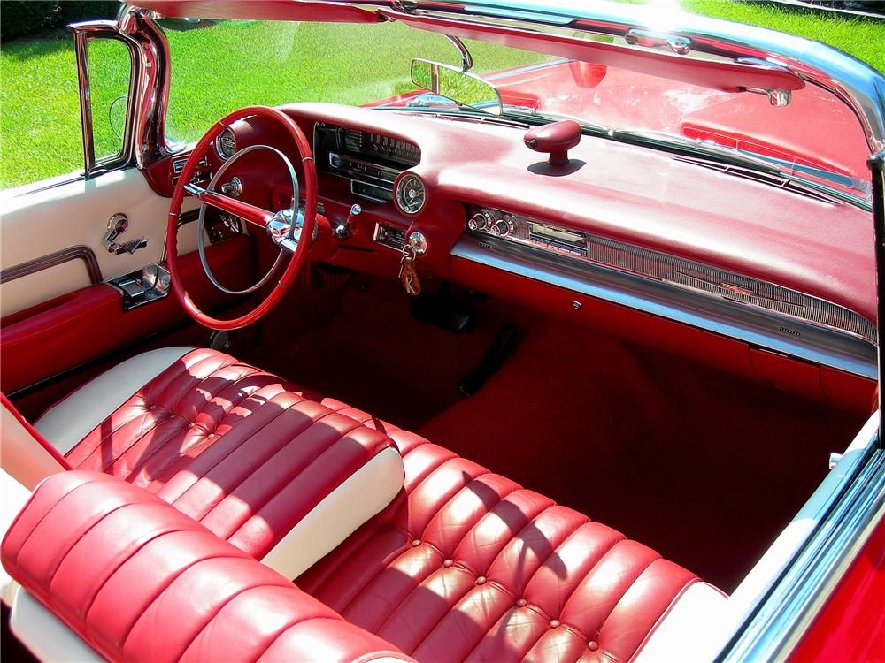 1959 CADILLAC SERIES 62 CONVERTIBLE - Interior - 79072