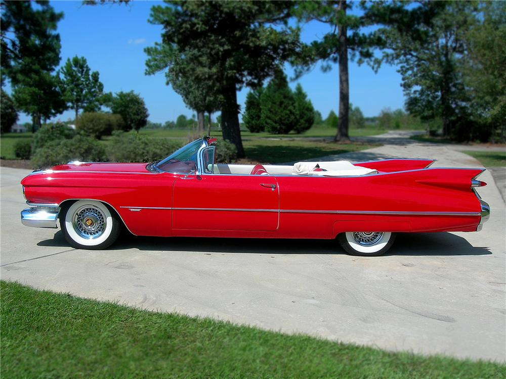 1959 CADILLAC SERIES 62 CONVERTIBLE - Side Profile - 79072