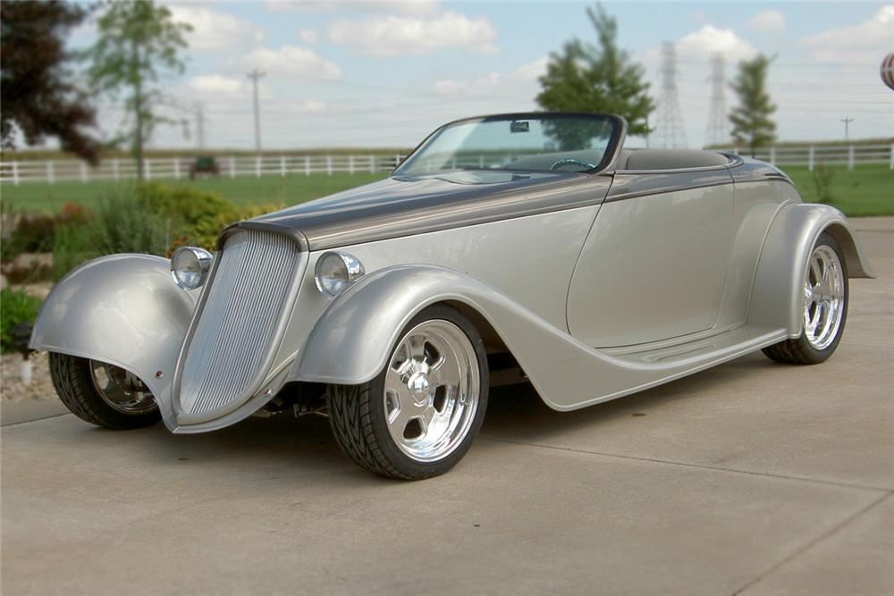 1933 FORD ROADSTER 2 DOOR CUSTOM COUPE - Front 3/4 - 79083