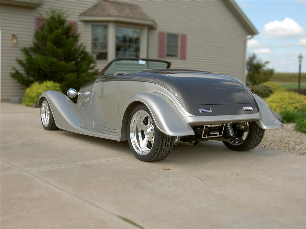 1933 FORD ROADSTER 2 DOOR CUSTOM COUPE - Rear 3/4 - 79083
