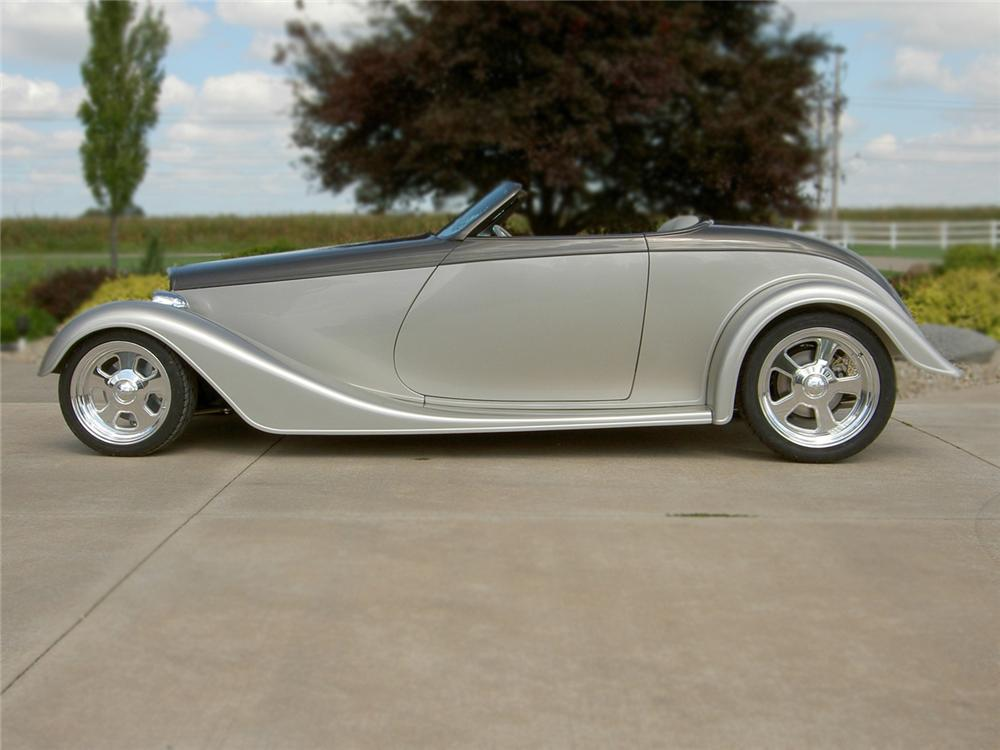 1933 FORD ROADSTER 2 DOOR CUSTOM COUPE - Side Profile - 79083