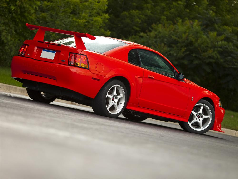 "2000 FORD MUSTANG COBRA ""R"" COUPE - Rear 3/4 - 79084"