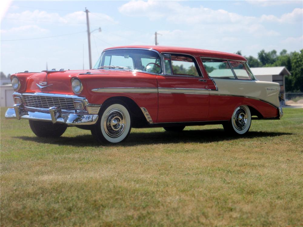 1956 CHEVROLET NOMAD WAGON - Front 3/4 - 79093