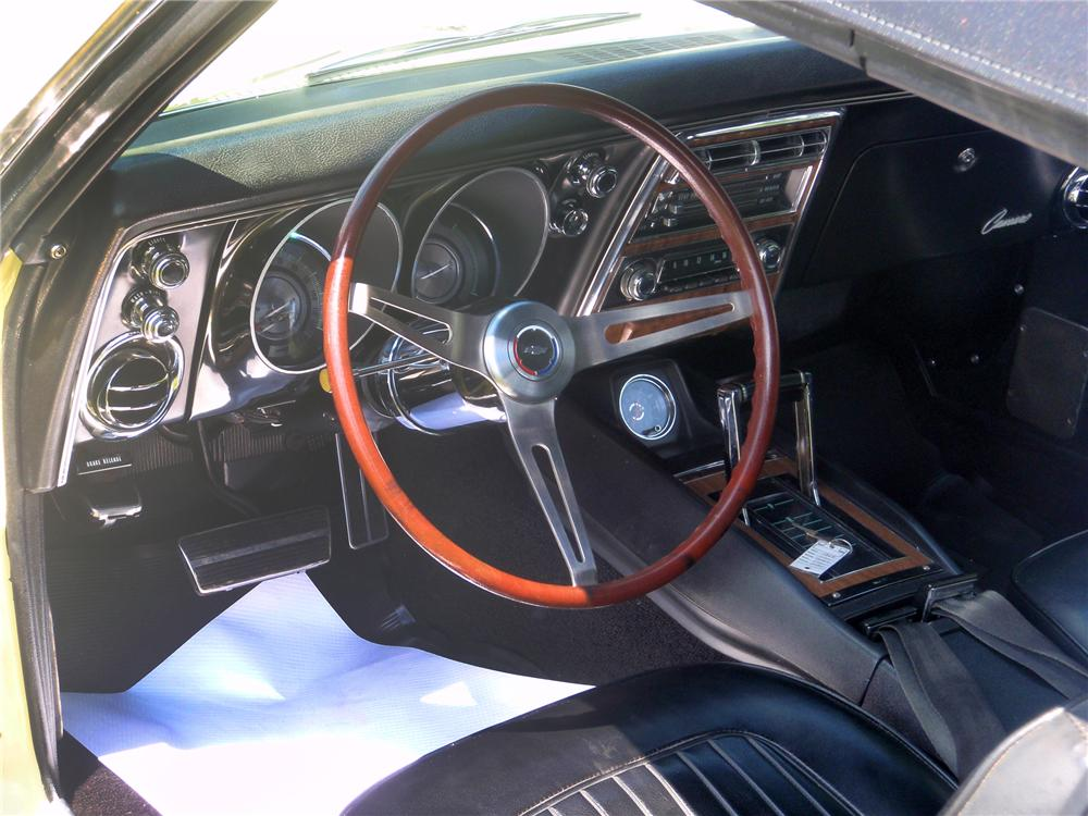 1968 CHEVROLET CAMARO CONVERTIBLE - Interior - 79096