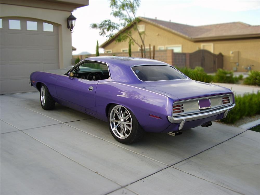 1970 PLYMOUTH BARRACUDA CUSTOM 2 DOOR COUPE - Rear 3/4 - 79097