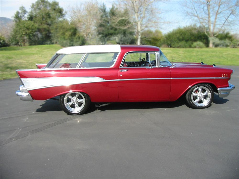 1957 chevrolet nomad custom 2 door wagon 79098 for 1957 chevy two door wagon